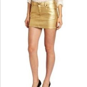 BCBGeneration golden mini pencil skirt